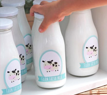 Farm fresh milk bottles